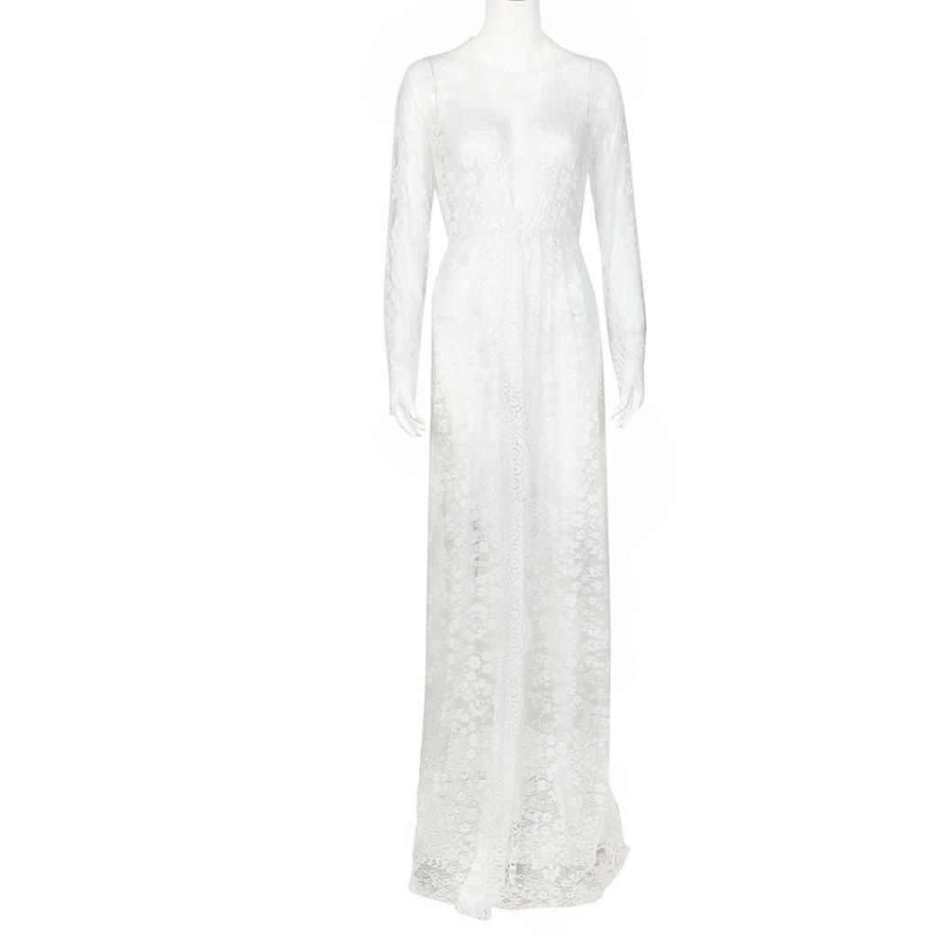 Amazon.com: siviki vestido mujer, mujeres embarazadas encaje ...