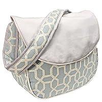 Hoohobbers Messenger Diaper Bag, Pebbles Sky Blue