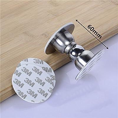 Cucumis 2 Pcs Stainless Steel Mini Soft-Catch Magnetic Door Stopper Wall Mount Door Catch Doorstop