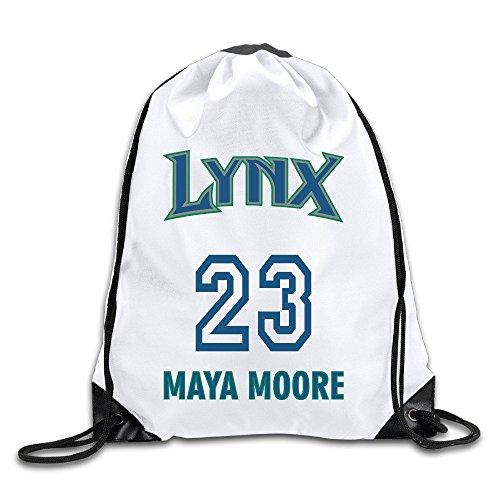 HAAUT WNBA Minnesota Lynx Maya Moore 23 Port Bag Drawstring Backpack