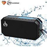 Bluetooth Wireless Speakers Waterproof IPX5 HD Enhanced Bass Outdoor Wireless Portable Phone Speakers Built-in Mic Support FM AUX TF Card USB iPhone iPad Android Phones Computer Etc. (Blue)
