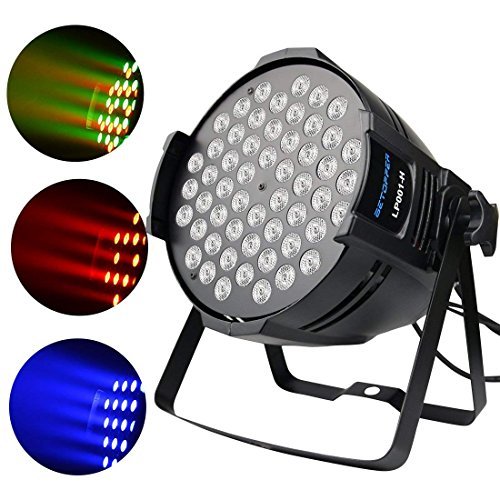 Betopper DJ Par Light 180W LED RGBW Stage Lighting 4/8 Channel Daisy China Design Can Uplights DMX Sound Lights for Birtyday,Bar,Home Party,Christmas Halloween Festival. for $<!--$52.99-->