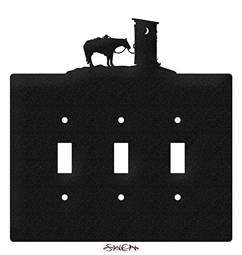 (SWEN Products OUTHOUSE COWBOY WESTERN Wall Plate Cover)