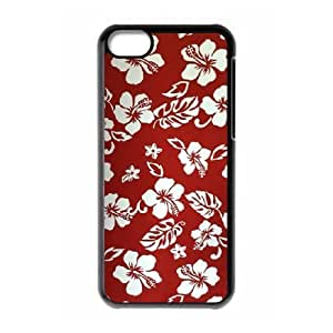 Red Hawaii Flower Custom Cover Case for Iphone 5C,diy phone case ygtg606513