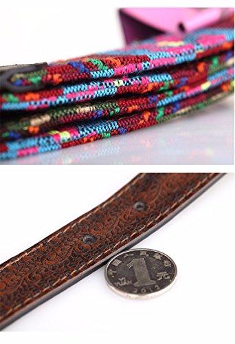SAIBANGZI Ms Women All Seasons Belt Casual Jeans Belt Fine Fabric Fashion Decorative Belt Girlfriend Present Brown 82-92Cm by SAIBANGZI (Image #4)