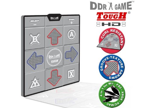 DDR Game Tough Super Deluxe Dance Pad for PC/ PS2/ PS1/ Wii/ Xbox by Dance Dance Revolution