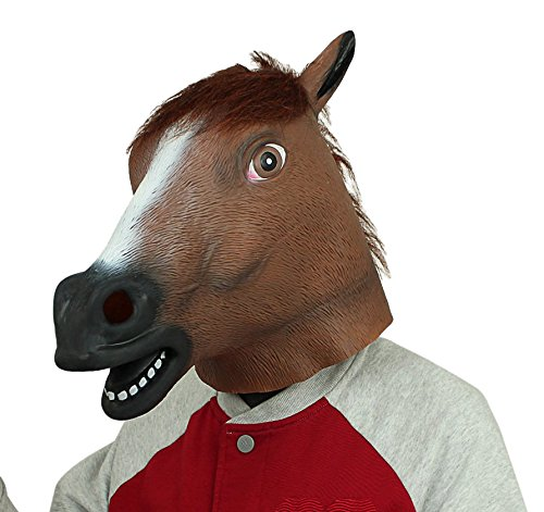 774f9a1404b2 Novelty Latex Rubber Creepy Horse Head Mask Halloween Party Costume  Decorations