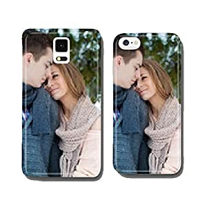 Happy Young woman hang up boyfriend in Winter Park cell phone cover case iPhone5