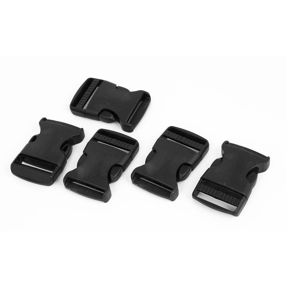 Plastic 1 1/4 Wide Webbing Strap Side Release Buckle 5Pcs Black uxcell a15081400ux0313