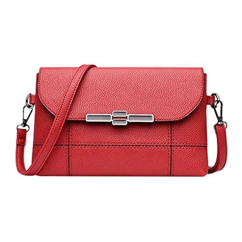 Bag Bag Splice Vintage Red Women Messenger Crossbody Bag Red Shoulder Bag YJYDADA Leather p4qZYWAxnw