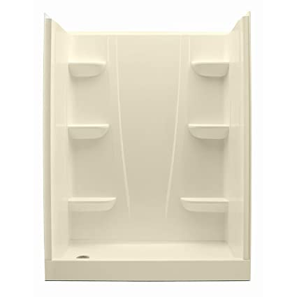 Aquatic 6030CSL BI Biscuit A2 30u0026quot; X 60u0026quot; X 76u0026quot; Shower Stall