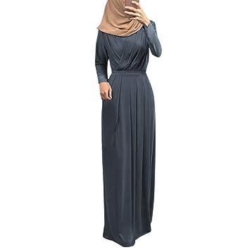 99907162f Amazon.com: Clearance,2019 Ramadan Womens Kaftan Abaya Elegant Muslim Dress  Indian Pleated O-Neck Robe Burqa Tunic Gowns On Sale (XL, Gray): Beauty