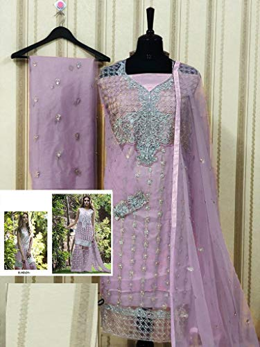 Ethnic Bollywood Kameez Collezione Emporium Salwar Donna Abito Designer Gather Garara Full Sposa Musulmano Da 7151 Bead Purple Work 61BCw6nqHr