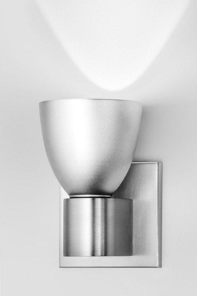 Hart lighting 1021SNELV1190 1-Light Satin Nickel Sconce with Aluminum-1021SNELV1190