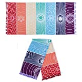 Yoga Mat Single Rainbow Chakra Tapestry Towel Carpet Mandala Boho Stripes Travel Outdoor Mats 150x70cm/100x45cm