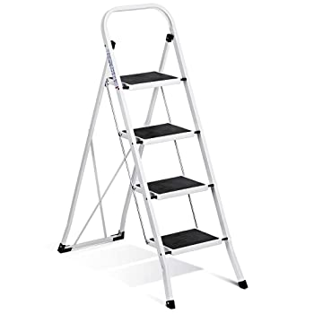 Delxo Folding 4 Step Ladder