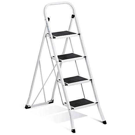 Amazon.com: Escalera plegable Delxo de 4 escalones con ...