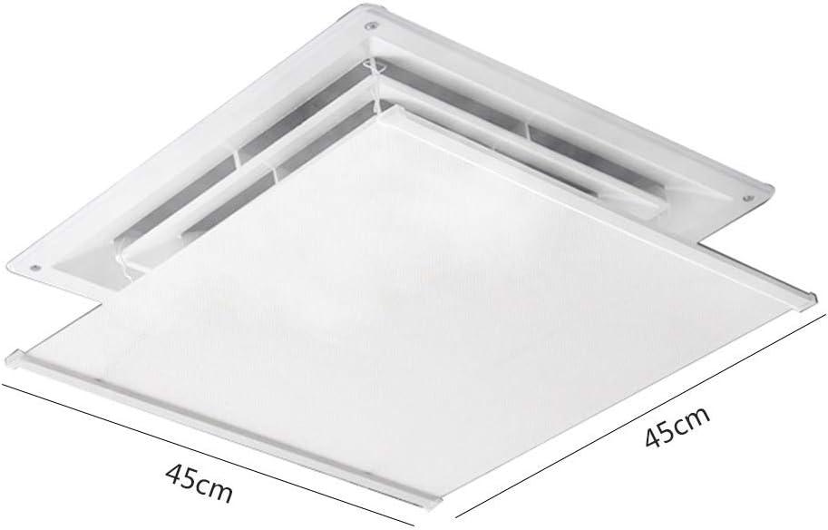 El deflector del aire acondicionado para el aire acondicionado central del techo evita que el aire sople directamente a las personas,ángulo ajustable Fácil instalación Tela Oxford Material(60cm*60cm): Amazon.es: Hogar
