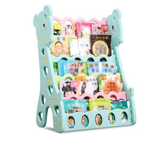 Bookcases Four Layers Floor-Standing High-Capacity PE Material Deer-Shaped Children's Including Box Kindergarten Cartoon Book Display Stand 72 45101cm Home Office ()