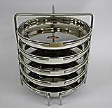 FERUM DHOKLA STAND BIG (8X5) SUITABLE FOR-10-LITRE PRESTIGE COOKER,STAND diameter-20cm,height-21.5cm,PLATE diameter-18.3cm.
