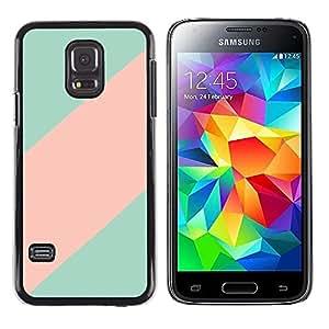 FlareStar Colour Printing Teal Pink Line Clean Minimalist Pattern cáscara Funda Case Caso de plástico para Samsung Galaxy S5 Mini / Galaxy S5 Mini Duos / SM-G800 !!!NOT S5 REGULAR!