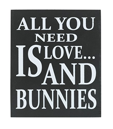 JennyGems Wooden Sign All You Need Is Love And (Rabbit Decor)