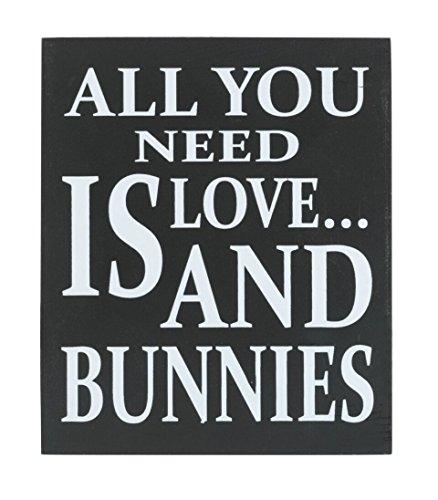 JennyGems Wooden Box Sign - Bunny Rabbit Home Decor Gift Col