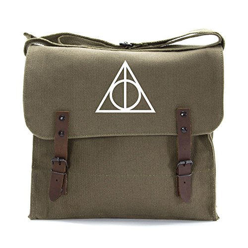 Harry Potter Deathly Hallows Army Heavyweight Canvas Medic Shoulder Bag
