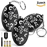 Cheap Personal Alarm, SEEWE 120 DB Emergency Security Alarm Keychain for Safety of Kids, Girls, Students, Joggers, Night Workers (Batteries+Screwdriver Included)