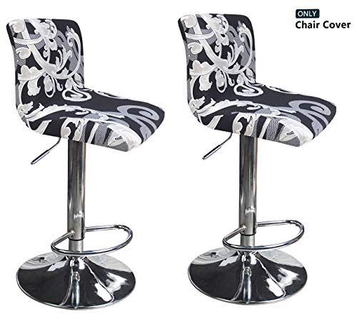 Deisy Dee Dining Room Chair Covers,Bar Stool Covers,Barstool Chair Slipcovers Pack of 2 C176 (X)