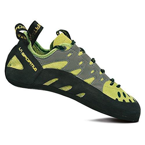 La Sportiva Men's TarantuLace Performance Rock Climbing Shoe, Kiwi/Grey, 43 M EU