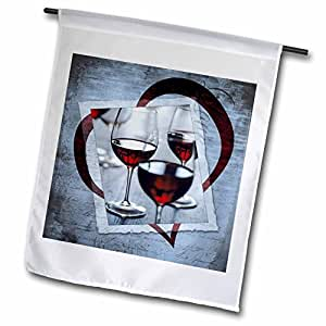 fl_99543_1 Susan Brown Designs General Themes - Wine Heart - Flags - 12 x 18 inch Garden Flag