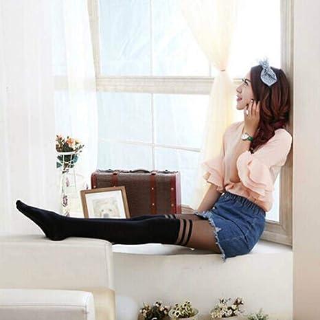 Color de la Piel JINYANG Calcet/ín Femenino Atractivo Longtube Medias Medias Medias de Gasa Fina Color : Skin Color, tama/ño : One Size