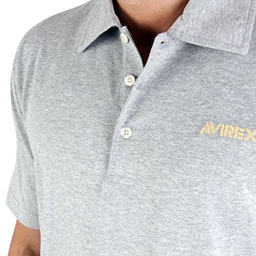 AVIREX Herren Polo Jerry Grey PE8M-PL005 Größe M