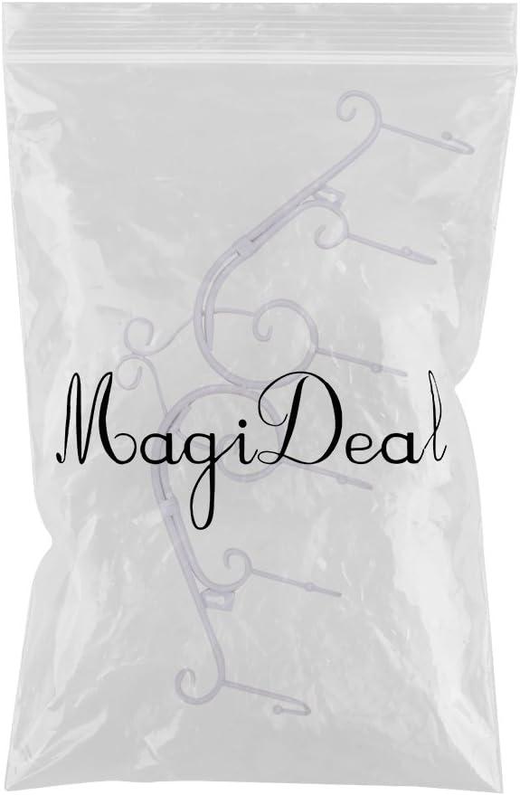 MagiDeal Appendiabiti A Muro Porta Attaccapanni Per Giacche Accappatoi Asciugamani A 6 Ganci Stile Vintage bianca