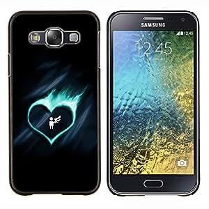 """Be-Star Único Patrón Plástico Duro Fundas Cover Cubre Hard Case Cover Para Samsung Galaxy E5 / SM-E500 ( Corazón lindo Fuego Ángel ala rota"""" )"""