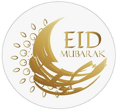 Uniquedesignz eid mubarak 70 labels to put on favour party bags sweet cones non personalised by