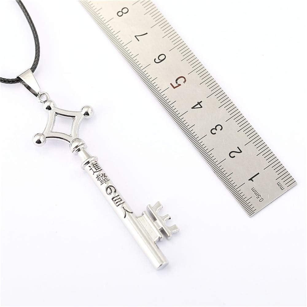 VAWAA Attaque sur la cl/é Forme du Collier de Titan Eren Jaeger pendentifs Vintage Shingeki no Kyojin Collier Cosplay Accessoires Figure Cadeau