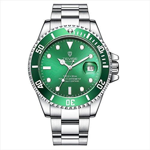 (Men's Luxury Green Dial Watch Rotatable Bezel Luminous Hand Quartz Watches Gifts for Men,Women (Green) )