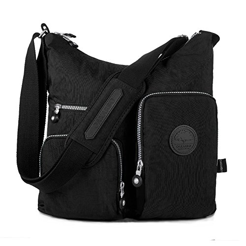 Oakarbo Nylon Multi-Pocket Crossbody Bag (1203 Black / Medium)