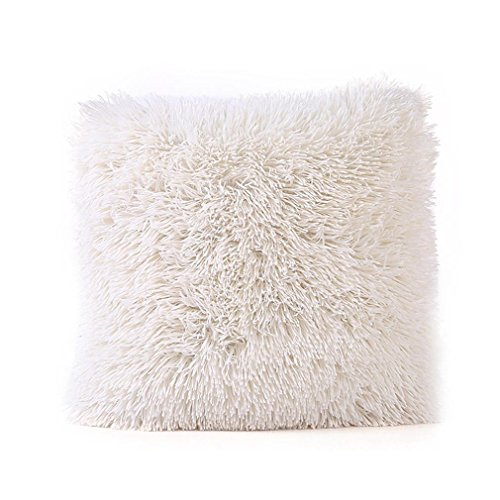 Goodtrade8 Gotd 16x16 Plush Pillow Case Cover Faux Fur Soft