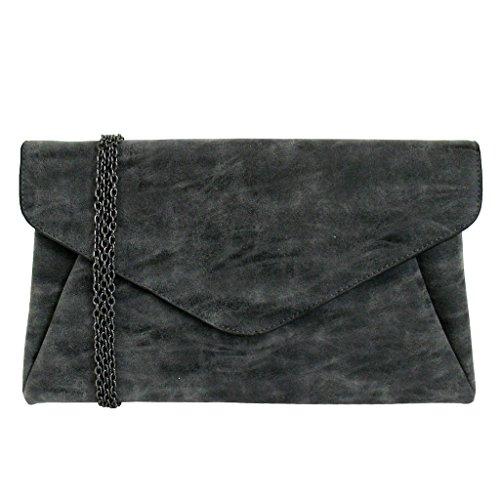 jnb-womens-faux-lether-double-pocket-envelop-clutch-black