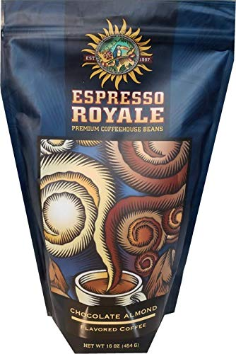 Espresso Royale Coffee, Chocolate Almond Flavored Coffee,Medium Roast 16 Ounce Bag, Coffee Beans, 1lb Bag ()