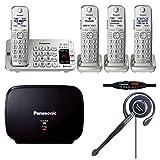 Panasonic KX-TGE474S Link2Cell Bluetooth CordlessPhone-4 Handsets,Range Extender