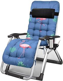 YY_C1 Bain de Soleil, Chaise Pliante Multifonctions, Fauteuil inclinable, Chaise de Plage, Dossier réglable, épais Coussin en Coton perlé
