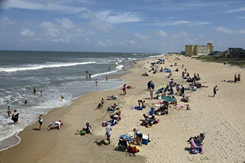 Photograph| Beach scene near Jennette's Pier in Nags Head, a community on North Carolina's Outer Banks 2 Fine Art Photo Reproduction 66in x 44in