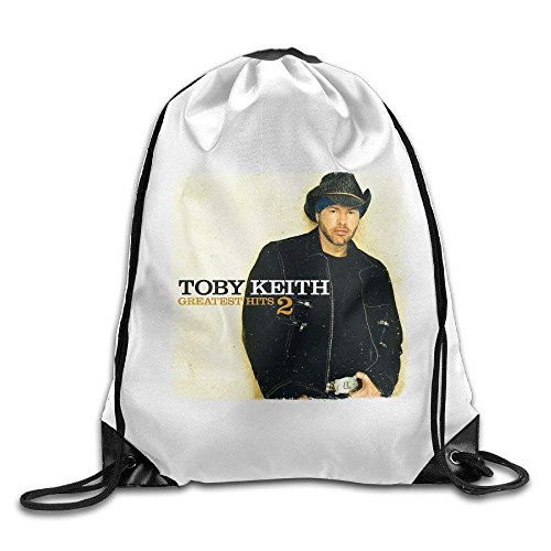 Gym Toby Keith Greatest Hits 2 Poster Drawstring Backpack Bag ()