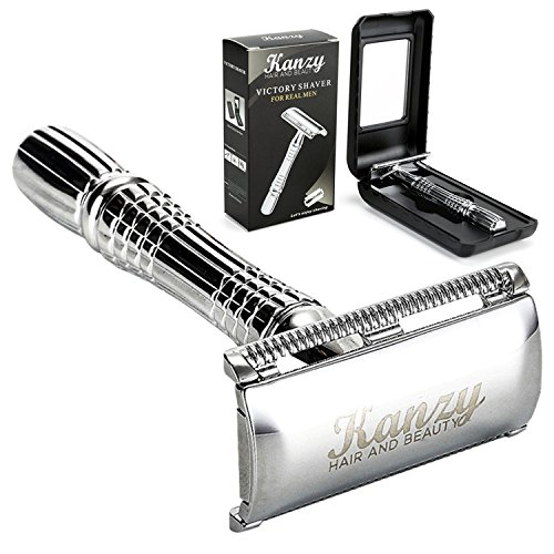 Double Edge Safety Razor - Shaving Razor for Men & Woman - Classic barber manual shaver - Styling and beard care + Presentation Case With Inside Mirror