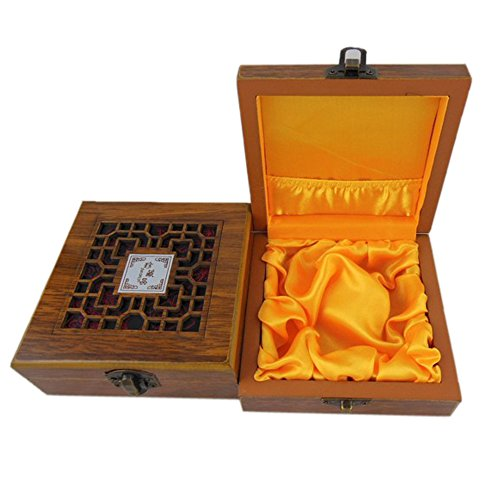 ieasycan Vintage Wooden Box with Hand Carved Floral Patterns Small Wood Jewelry Box With Metal Hinge For Necklace Bracelet Gift Storage (Small Mahogany Jewelry Armoire)