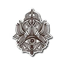 "#10572 Hamsa Eye Mandala Yoga Sticker Decal for Car, Motorcycles, Windows, Laptops, Walls and More (4"")"